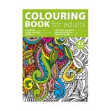 Image of A4 adults colouring book with 32 designs on 250gsm paper.
